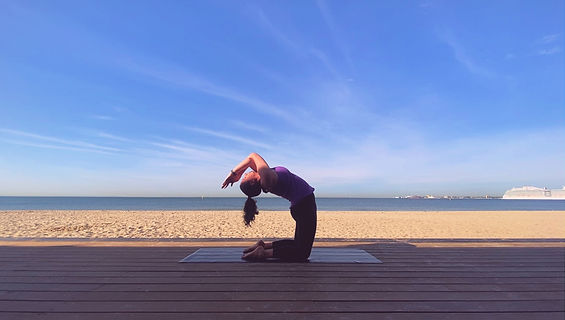 Aoife Blake Delve Yoga Camel Eagle Beach