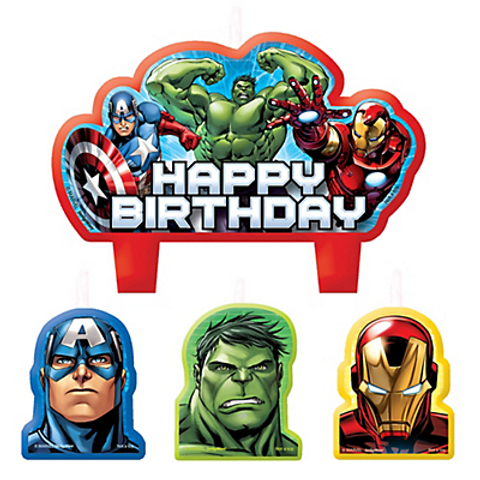 Home Shop Avengers Birthday Candles 4ct