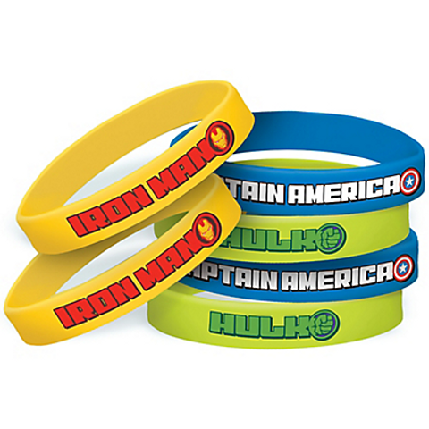 Avengers Wristbands 6ct / 2.5in Rubber