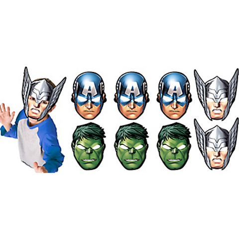 Paper Avengers Masks 8ct