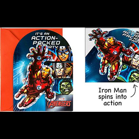 Premium Prismatic Avengers Invitations 8ct