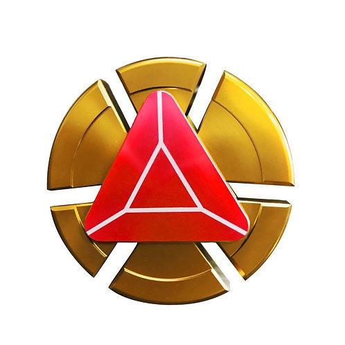 Arc reactor fidget spinner Red and Gold center