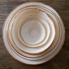 porselein servies met gouden rand