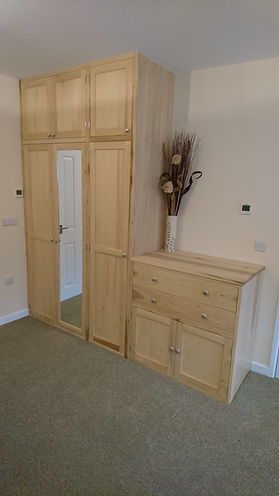 Tulipwood cupboards and chest