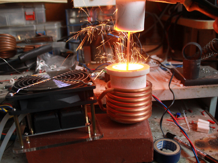homemade high frequency induction heating machine DIY
