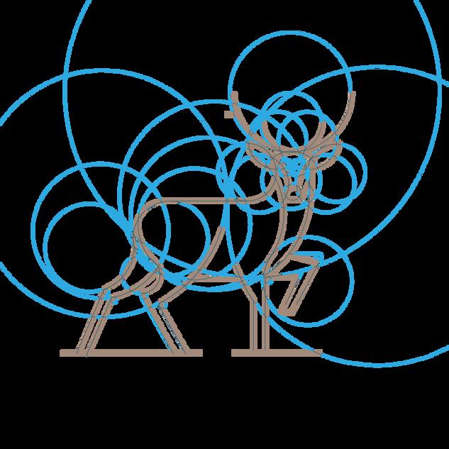 grid system for tartan tweeds logo design
