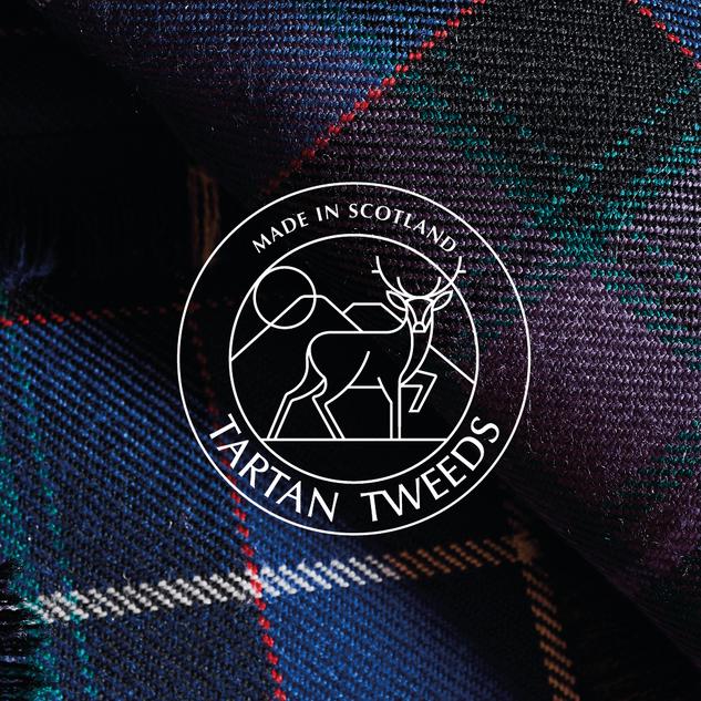 Tartan tweeds logo on tweed fabric