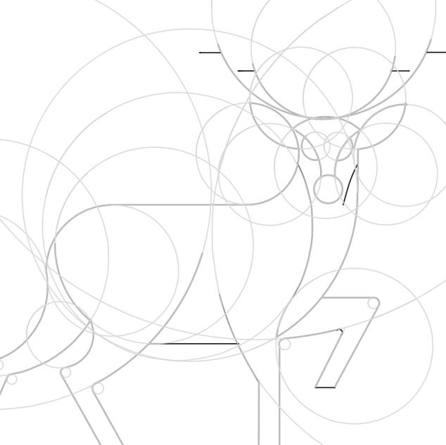 circular grid for logo