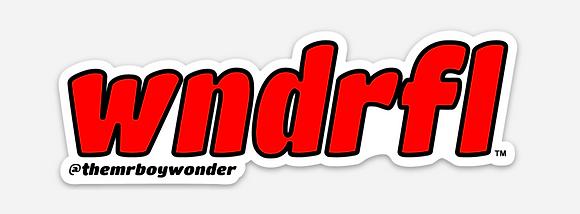 Red WNDRFL Sticker