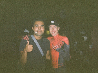 spider jonesy & his photographer frogboy