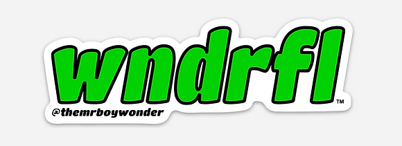 Green WNDRFL Sticker