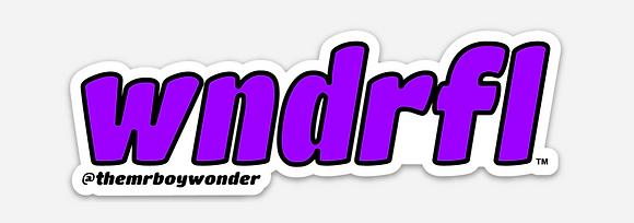 Purple WNDRFL Sticker