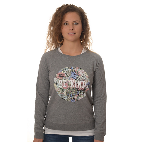 "Sweater ""be kind"" floral Woman"