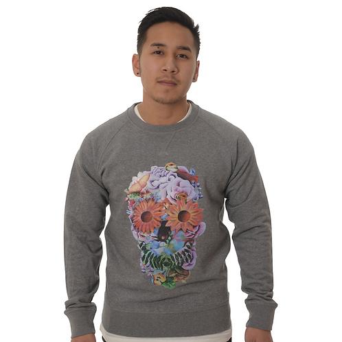 Sweater Skull floral Man
