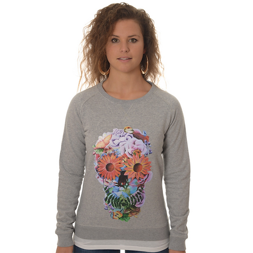 Sweater Skull floral Woman