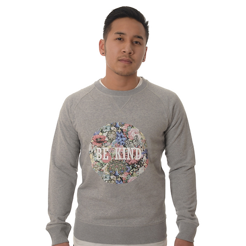 """Sweater """"be kind"""" floral Man"""