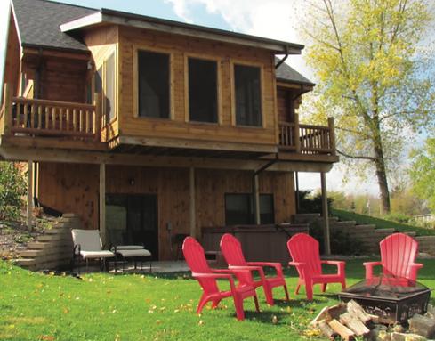 vacation rental cabin in dubuque iowa