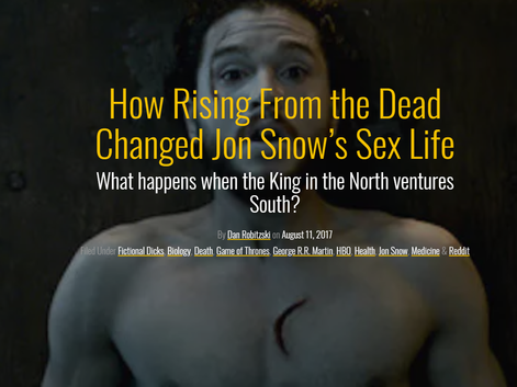 How Rising From the Dead Changed Jon Snow's Sex Life