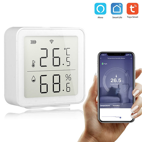 Tuya temperaturni detektor vlažnosti in merilnik temperature.