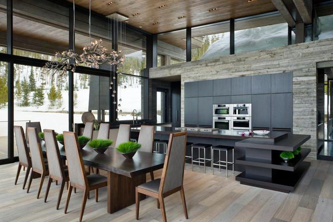 Кухня в современном интерьере.