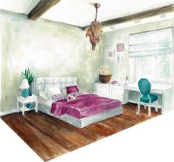 12 спальня женская визуализация вид 1