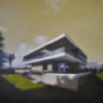 Öl auf Leinwand, 135 x 135 cm