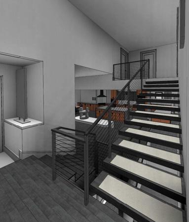 Rendering of Interior Stairwell