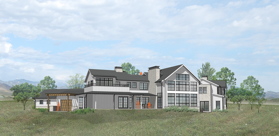 Rendering of Modern Farmhouse Project