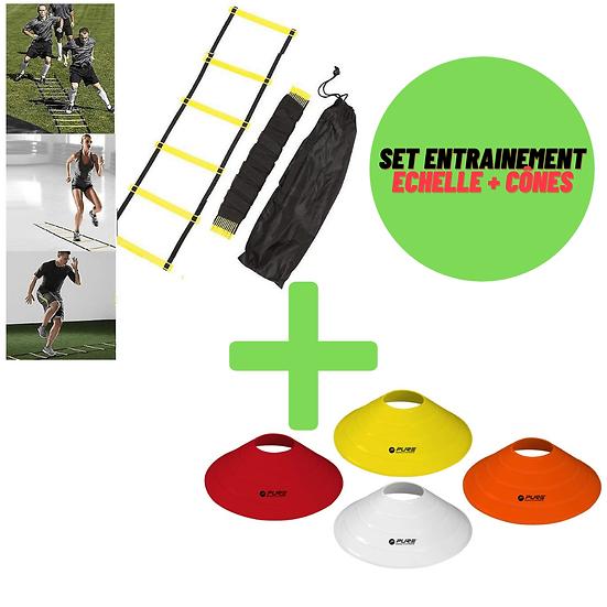 Set entraînement échelle d'agility + set de cônes