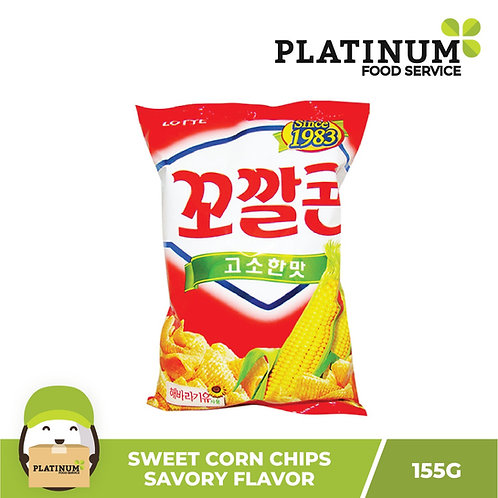Lotte Sweet Corn Chips - Savory Flavor