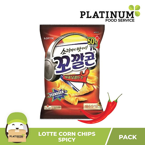 Lotte Sweet Corn Chips Spicy 72g