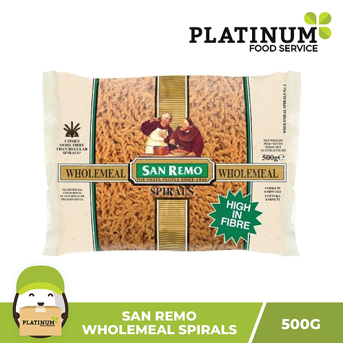 San Remo Wholemeal Spirals 500g