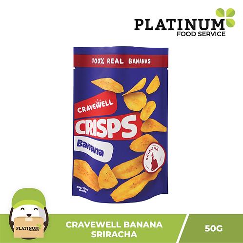 Cravewell Banana Chips Sriracha 45g