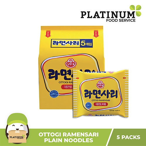 "Ottogi Ramen Sari ""Plain Noodles"" 110g (pack of 5)"