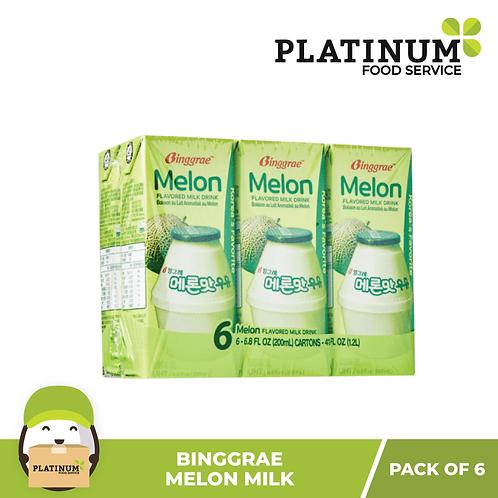 Binggrae Melon Flavored Milk 200mL x 6