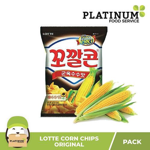 Lotte Sweet Corn Chips Original 72g