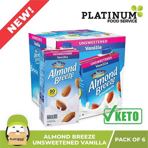 Almond Breeze Unsweetened Vanilla 946mL x 6