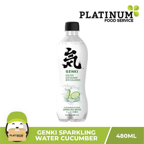Genki Sparkling Water Cucumber Flavor 480mL