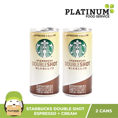 Starbucks Doubleshot Espresso + Cream 200mL (pack of 2)