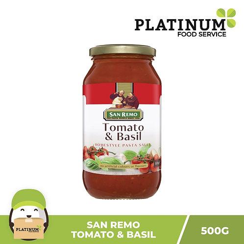 San Remo Tomato & Basil Pasta Sauce 500g