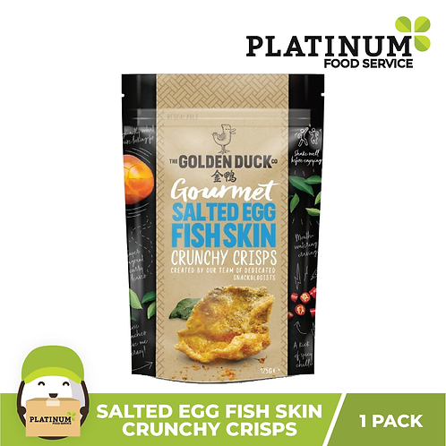 The Golden Duck Co. Salted Egg Yolk FISH SKIN Crisps 125g