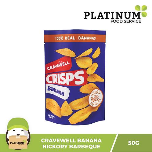 Cravewell Banana Chips Hickory BBQ 45g