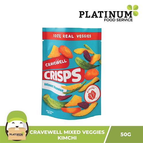 Cravewell Mixed Vegetable Crisps Kimchi 40g