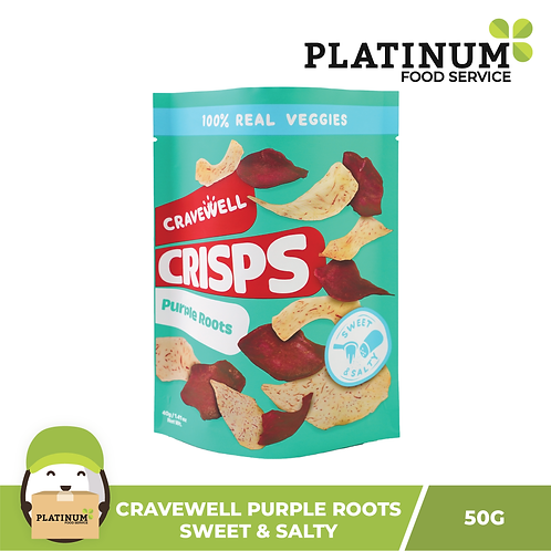 Cravewell Purple Root Crisps Sweet n Salty 40g