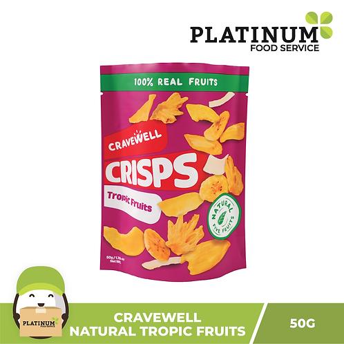 Cravewell Fruit Crisps Tropical Fruit 50g