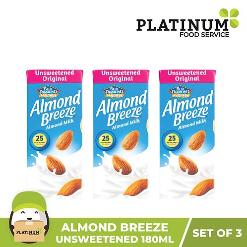 Almond Breeze Unsweetened Original (180mL x 3)