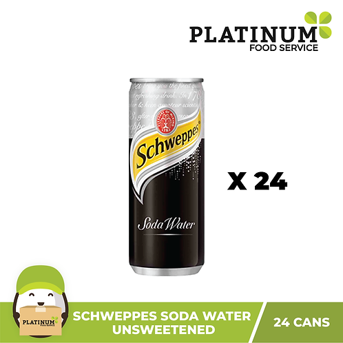 Schweppes Soda Water (Black) in case