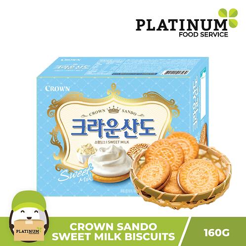 Crown Sando Sweet Milk Biscuits 160g