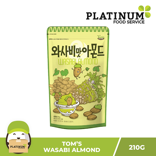 Tom's Wasabi Almonds 210g