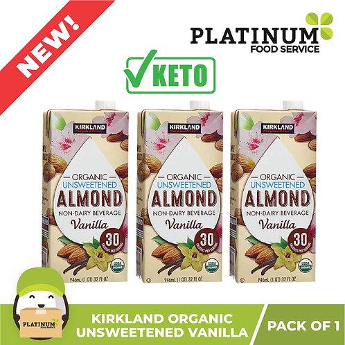 Kirkland Almond Milk Unsweetened Vanilla Flavor 946mL x 3
